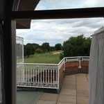 View from bedroom balcony of the 1st tee