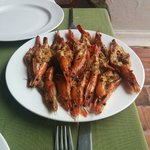 Tiger Prawns at the Old Courtyard Hotel