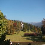 View from the hotel of Peles Castle