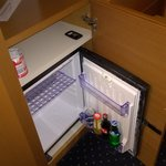 Complimentary minibar, including only one beer and 3 beverages