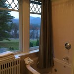 Bathroom windows in Windsor room