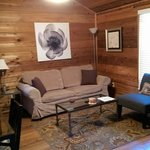 Living room of Pewter cabin