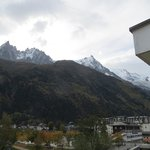 View of the Aiguille du Midi from our balcony, Room # 47