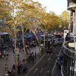 View of Las Rambles from a balcony