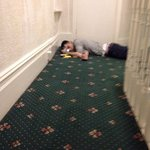 Oh just a passed out guy in the hall way