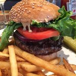 The house burger - excellent quality!