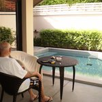 Leisure time beside our private pool