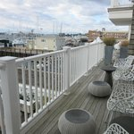 large deck for harbor view suites #2 and #1