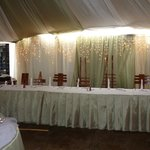 High table set