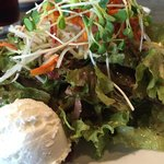 Organic salad with local goat cheese