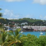 Overlooking Christiansted from hotel terrace