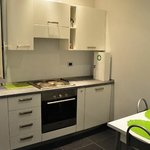 kitchenette shared by the 2 rooms on each floor