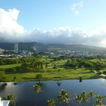 Mountains and Golf Course across Ala Wai Canal
