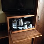 Nespresso machine - fresh milk available in the hallway