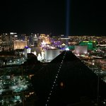 View of The Strip from the Delano rooftop.