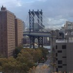 View from our bathroom - beautiful Manhattan Bridge