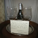Welcome Note and Wine