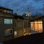 View from roof towards Blue Mosque