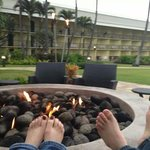 fire pit at hotel