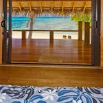 View from the bed in Absolute Beachfront Villas