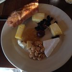 Nice collection of cheeses on the cheese plate