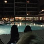 October late night by the pool