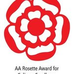 AA Rosette for excellence Awarded 2014