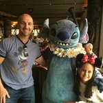 Character dining at Ohana inside the main building