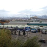 View of Tian Shan Mountains from Room 418