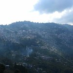 view of darjeeling town from the hotel.