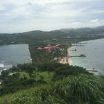 view of resort from atop Pigeon Island