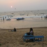Sun set at Calangute beech