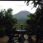 View from our room - our balcony and the volcano