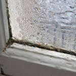 Condensation on the bathroom window