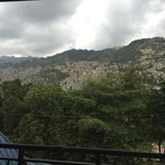 View from my room overlooking the hillside