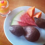 Fruits available for breakfast