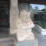 Stone sculpture at main entrance