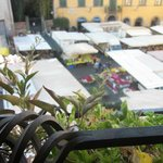 view from room of the market on the piazza