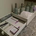 Toiletries provided by resort