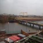 View of Titanic Quarter from hotel room