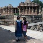 Beautiful sun temple in the background