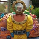 underwater diver at the water pad attraction