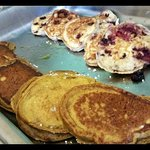 Most delicious Pumpkin and Blueberry pancakes ever!