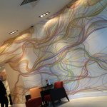 quirky paper in reception - loved it