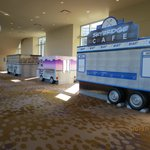 Food trucks in causeway to convention center
