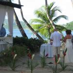 A wedding on the beach at Rendezvous
