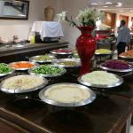 A wide selection of salads