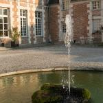 Chateau d'Etoges Courtyard Fountain