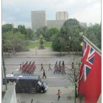 View of Guard marching down Elgin Street