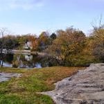 View of pond, Old Burial Hill, Marblehead